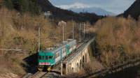 Regionale 7511 Avezzano - Piazzale Est Roma Tiburtina, effettuato fino a Tivoli con una doppia di ALn668 3300, in testa l