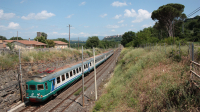 ALe841 treno 3 in servizio da Terontola a Orte, in arrivo a fine destinazione.