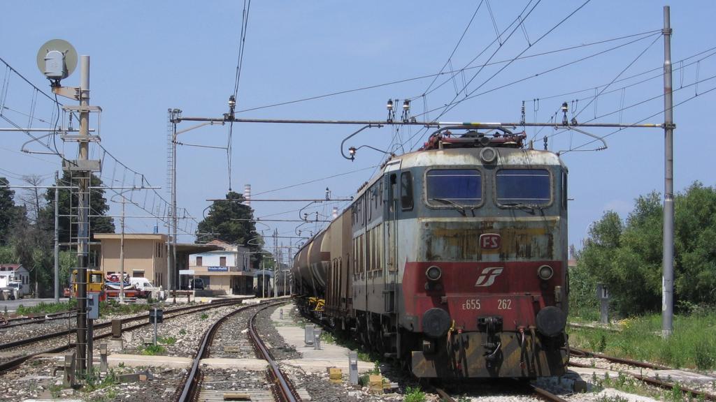 E655 262 e stazione di Priolo-Melilli