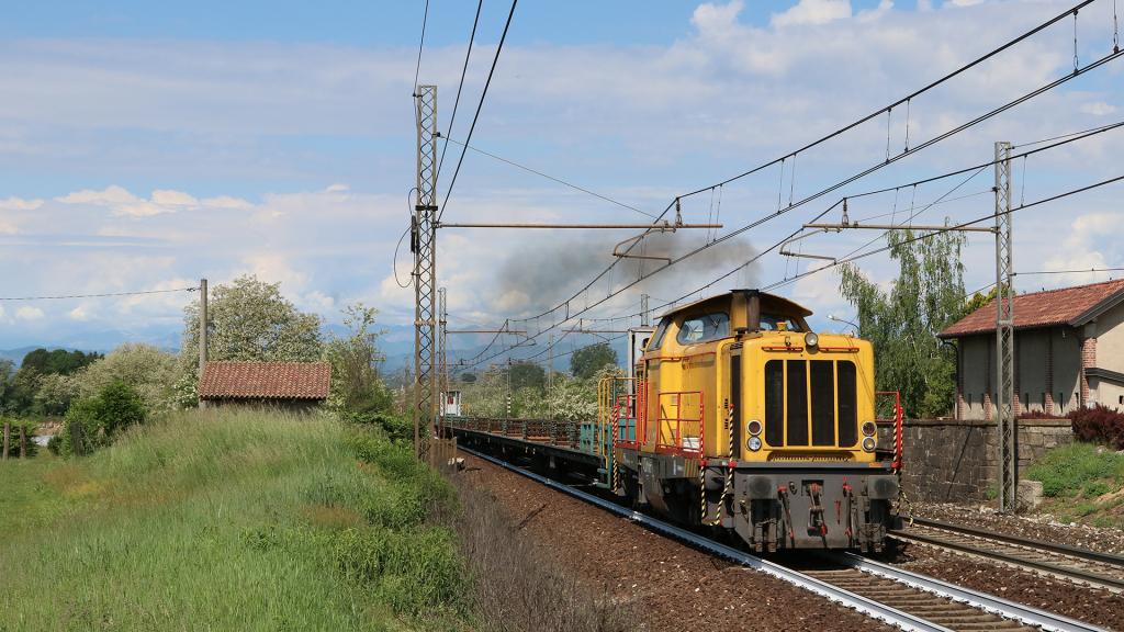Treno cantiere di rotaie Vergiate