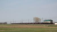 Convoglio per il trasporto di barre di ferro, da Vittuone Arluno per Terni, titolare la E655 225, in transito in località Masone, vicino Reggio Emilia