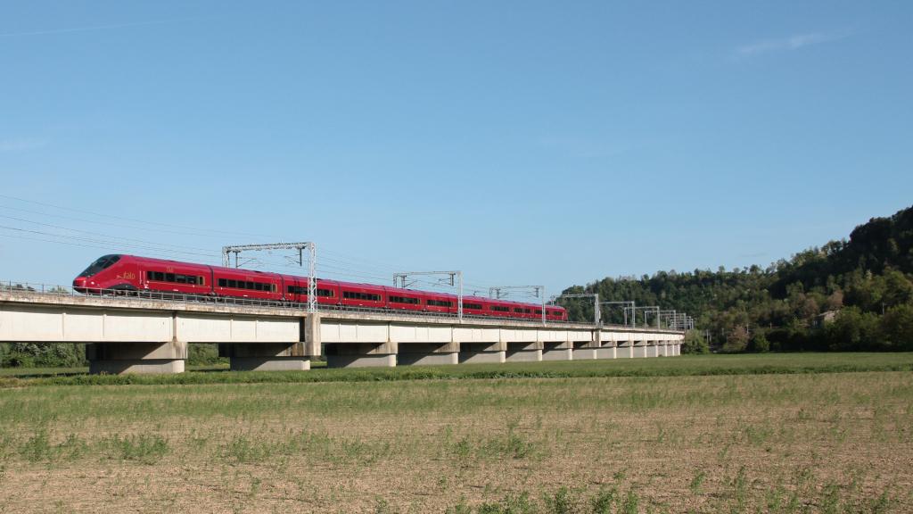 Italo AGV 575 treno 6 Civita Castellana