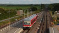 DB 628 475 in ingresso a Armsheim, con un servizio per Bingen